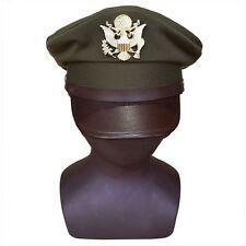 WWII WW2 US ARMY AIR CORPS FORCE MILITARY HAT OFFICER WIDE BRIM HAT CAP