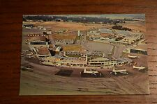Christchurch International Airport Mid-Century Harewood New Zealand NZ Postcard