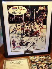 "1980 USA ""MIRACLE ON ICE"" OLYMPIC HOCKEY TEAM SIGNED HERBB ROOKS FULL SIGNATURE"
