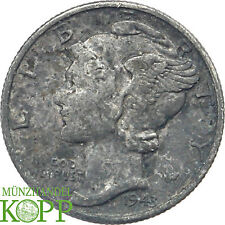 Y464) USA One Dime 1943  Mercury (1916 - 1945)