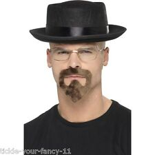 Para Hombre Breaking Bad Fancy Dress Tv Sombrero Anteojos Y Perilla De Walter White Heisenberg