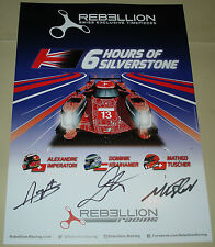 Le Mans - WEC 2016 Silverstone 3rd In LMP1 Rebellion Racing R-ONE #12 #13 Signed