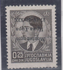 "Italy occupation Montenegro INVERTED overprint ""Montenegro Crna Gora 17-IV-41 **"