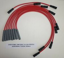 CHEVY/GMC 1996-2000 7.4L 454 SUBURBAN,YUKON,DENALI Red 8mm SPARK PLUG WIRES USA