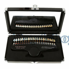 Dental 20 Colors Teeth Shade Guide with Mirror Dentists Porcelain Teeth NEW