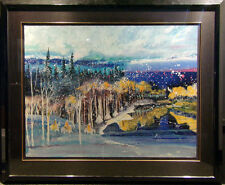 """Earl Biss """"Early Snow On The Beartooth Range"""" with Custom frame Make an Offer"""