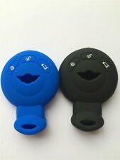 Black and Blue Smart Keyless Remote Key Cover 3B fit for BMW Mini Cooper