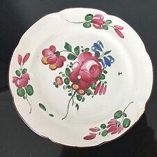 Assiette en Faience De l'Est XIXè décor de fleurs Antique french plate 19thC