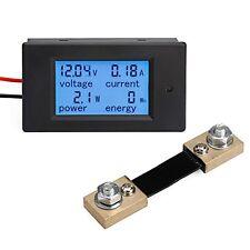 DROK® Digital Multimeter DC 6.5-100V 100A Voltage Amperage Power Energy Meter DC