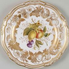 "13Avail. Spode Copeland Golden Valley 7 6/8"" Salad Plate Hand Painted Fruit Gold"