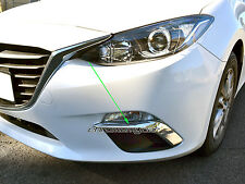 Chrome Front Foglight Fog Light Lamp Foglamp Garnish for Mazda 3 BM 2013-2016
