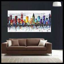 Modern Abstract Hand-Paint Art Wall Decor Oil Painting On Canvas ,City(No Frame)