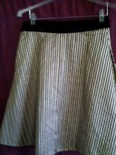 Marc Jacobs multi color100%silk inverted pleat above knee A- line skirt size 6