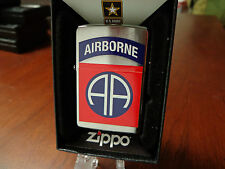 UNITES STATES ARMY US 82ND AIRBORNE ZIPPO LIGHTER MINT 2016