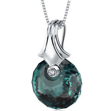 22 CT Color Changing Alexandrite Sterling Silver Pendant