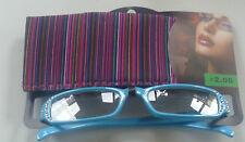 Brille mit Sehstärke + 2,00 und Eti