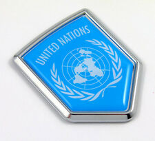 United Nations UN Flag Car Bike Auto Chrome Emblem 3D badge crest Decal sticker