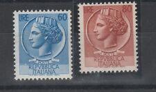 FRANCOBOLLI 1953 REPUBBLICA SIRACUSANA L. 60+80 MNH Z/3936