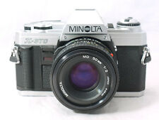 Minolta X-370 Manual Film Camera with Original MD 50mm F/2 Lens