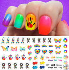 Autism Awareness Ribbon Nail Art Waterslide Decals Set #3 - Salon Quality!