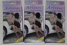 3 Pairs  ARISTOC Legtoners 20 DENIER semi sheer legs WITH LYCRA Blue Small NEW
