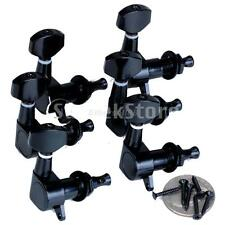 6pcs Right Sealed Electric Guitar String Tuning Pegs Tuners Machine Heads Black