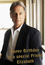 Personalised A5 Gibbs NCIS Mark Harmon Birthday Card Any Age Relation Mum Sister