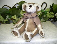GINGERBREAD BATH & BODY TEDDY BEAR MADE OF SUEDE