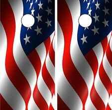 C66 American Flag Cornhole Board Wrap LAMINATED Wraps Decals Vinyl Sticker
