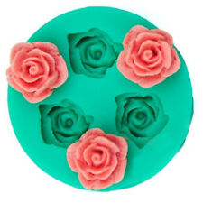 3D Rose Flower Silicone Chocolate Fondant Cake Candle Soap Mold Mould Decorating