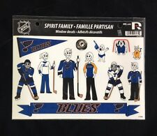 St. Louis Blues Spirit Family Decals NEW car/truck window - Set of 17