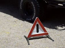 German army surplus military vehicle emergency roadside reflector triangle used
