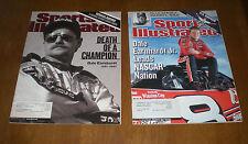 2 NASCAR SPORTS ILLUSTRATED - DEATH OF DALE EARNHARDT SR & DALE EARNHARDT JR.