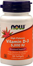 Vitamin D-3 5000 IU 120 Softgels - NOW Foods