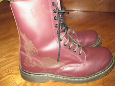 """DR MARTENS BOOTS WINGED SKULL """"RARE"""" SIZE 12  NEVER WORN"""