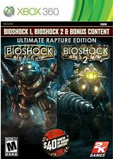 BioShock Ultimate Rapture Edition Xbox 360 with 1, 2 and bonus  Brand New Sealed