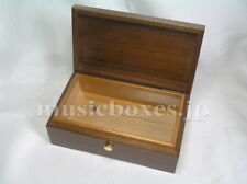 NEW Empty Wood Box for DIY Music Box 50 Note ORPHEUS Sankyo JAPAN Walnut+Spruce