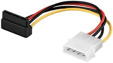 SATA Strom Kabel Molex Power Adapter abgewinkelt 4 Pin S-ATA IDE 15cm 0,15m