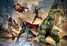 AVENGERS HEROES Wall Mural photo Wallpaper FOR KIDS BEDROOM 368x254cm MARVEL