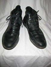 COLE HAAN WOMEN'S BLACK LEATHER LACE UP ANKLE BOOTS / SHOES SIZE 9B