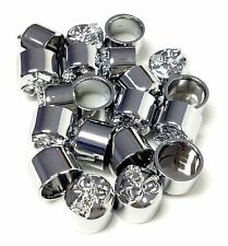 "PACK OF 50 CUSTOM CHROME 5/16"" SKULL BOLT COVERS FOR HARLEY DAVIDSON"