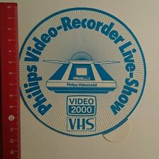 Aufkleber/Sticker: Philips Video Recorder Live Show Video 2000 (30071684)