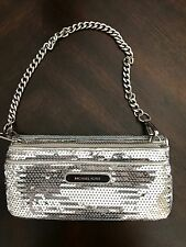 Michael Kors silver sequence wallet in great condition!