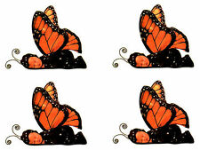 Anne Geddes Baby Scrapbook Stickers! Monarch Butterfly Set of 4!