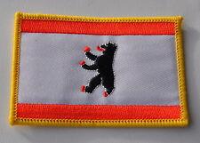 AUFNÄHER PATCH 0266 AUFBÜGLER BERLIN FAHNE FLAGGE SAMMLER NEU