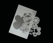 Airbrush Schablonen / Stencil 0611 Zahnräder 2