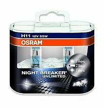 COPPIA LAMPADE OSRAM H11 NIGHT BREAKER UNLIMITED 64211NBU +110% LUCE