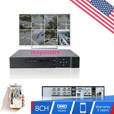 1080P 8CH DVR NVR Network Home Security System Video Recorder Standalone USA MAY