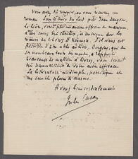 Jules Richard Case (1854-1931) French novelist, Journalist and Critic Autograph