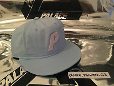 PALACE SKATEBOARDS STADIUM P 6 PANAL CAMP CAP HAT NEW LIGHT PALE BABY BLUE